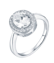 Oval Halo CZ Ring - Sonia Danielle