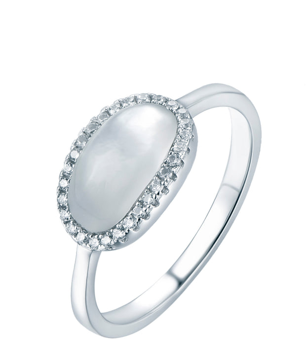Oval Halo Ring - Sonia Danielle