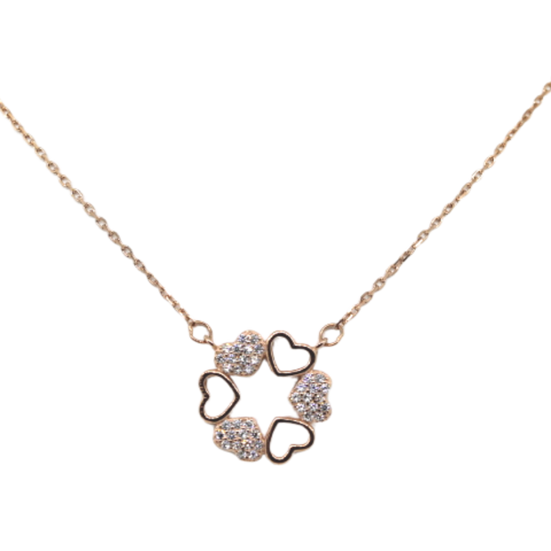 Pave Heart Eternity Necklace - Sonia Danielle