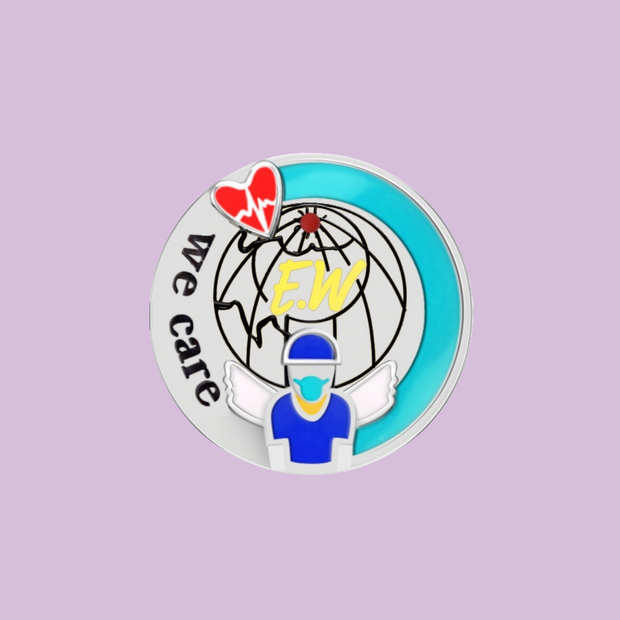 """WE CARE"" Commemorative Pin - Sonia Danielle"