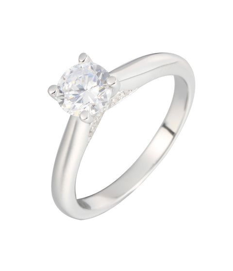 Solitare CZ Engagement Ring - Sonia Danielle