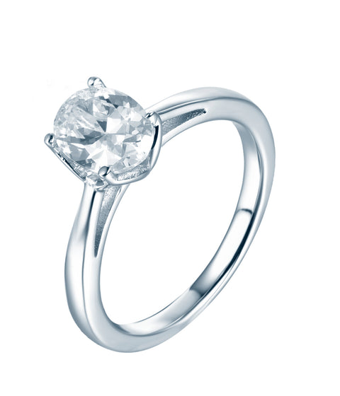 Oval Solitaire CZ Ring - Sonia Danielle