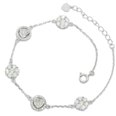 Heart and Flower Bracelet - Sonia Danielle