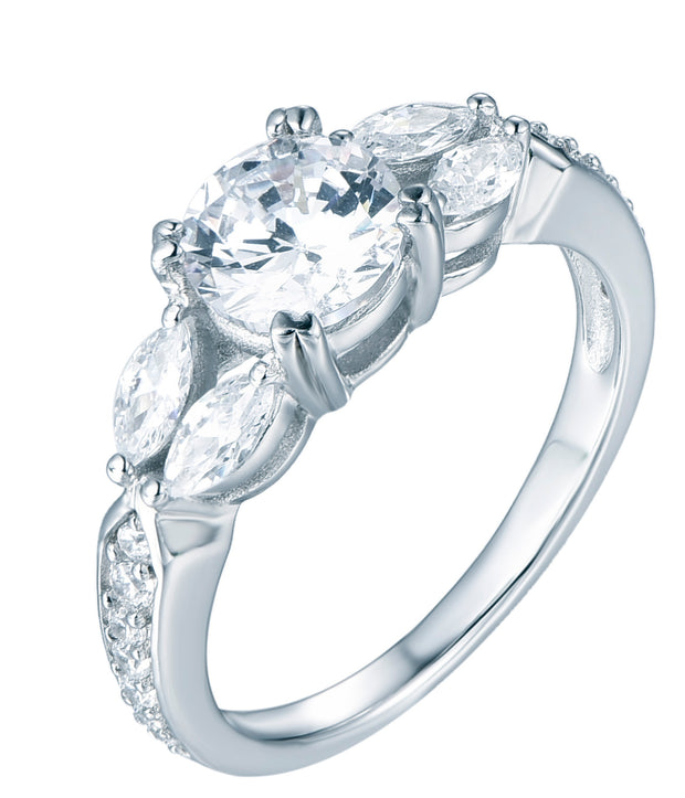 Round and Marquise Engagement Ring - Sonia Danielle