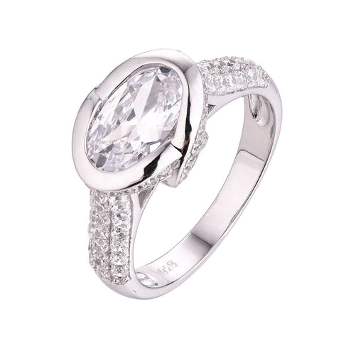 Oval Bezel Engagement Ring - Sonia Danielle