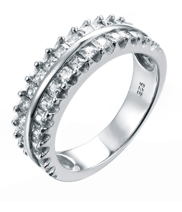 2-Row Princess cut Half-Eternity Band - Sonia Danielle