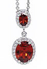 Amour Red-Orange CZ Pendant - Sonia Danielle