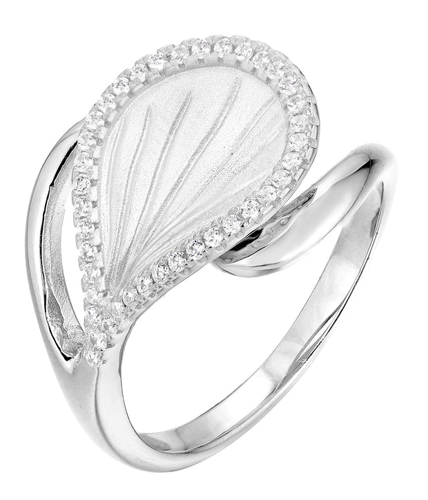 Matte Looped Wavy Leaf Ring - Sonia Danielle