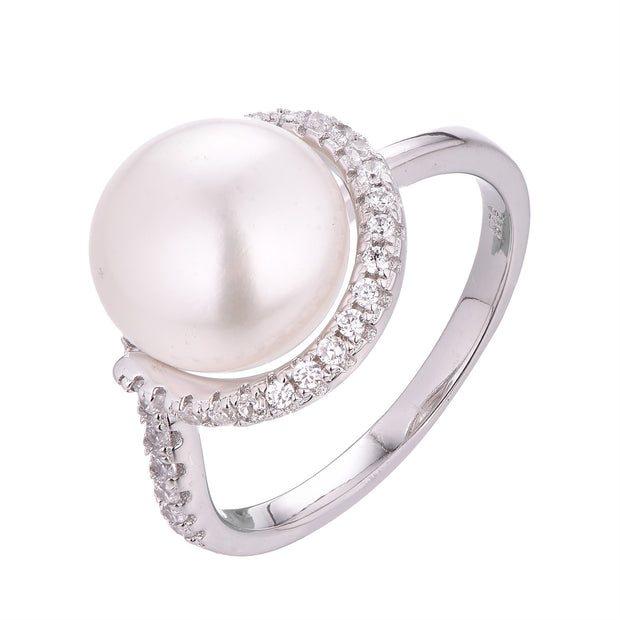 Open Halo Pearl Ring - Sonia Danielle