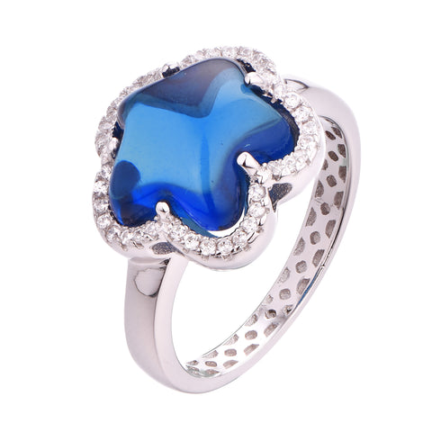 Halo Cabochon Flower Ring - Sonia Danielle