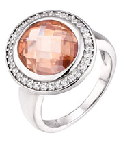 Double Facet Halo Ring - Sonia Danielle