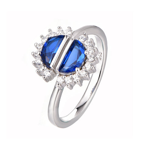 Blue Half Moon Ring - Sonia Danielle