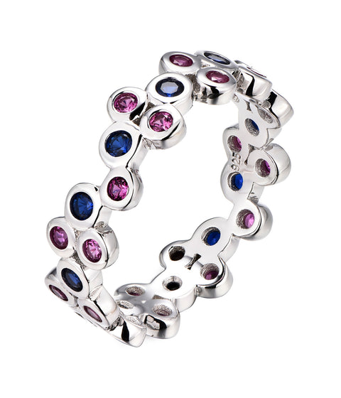 Small Bezel Multi-Colour Ring - Sonia Danielle
