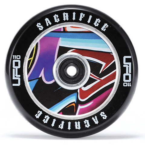 Sacrifice UFO 110mm Scooter Wheel - Black/Graffiti