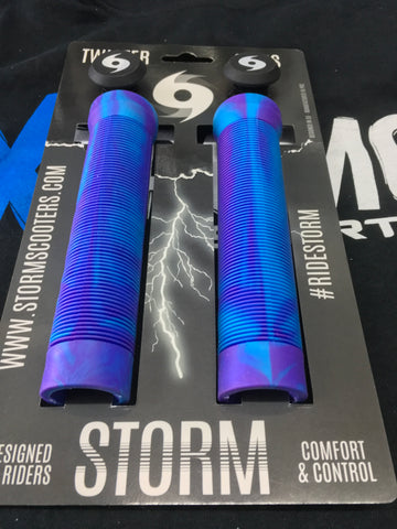 Storm Twister Scooter Grips -Teal / Purple