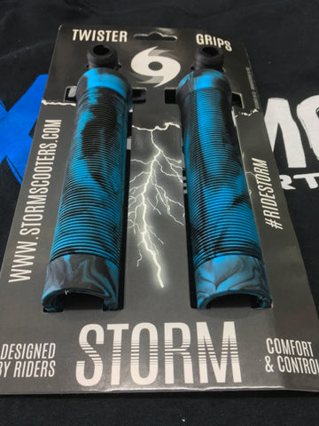 Storm Twister Scooter Grips - Blue / Black
