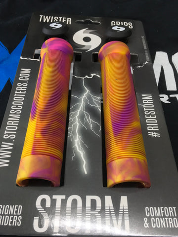 Storm Twister Scooter Grips - Sunset