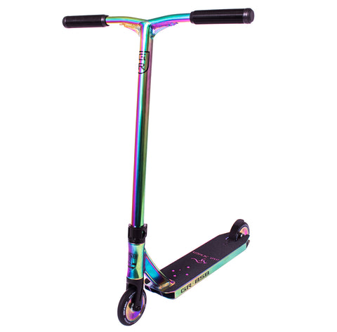 Ride 858 GR Complete Stunt Scooter - Neochrome / Oil Slick
