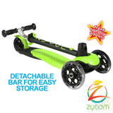 Zycom Zing Light Up Complete Scooter with Light Up Wheels - Lime/Black