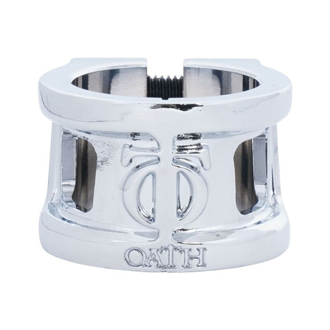 Oath Cage V2 Alloy 2 Bolt Clamp - Neo Silver