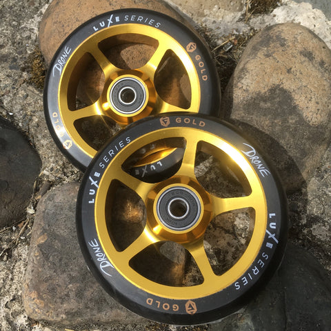 Drone Luxe 110mm Stunt Scooter Wheels X 2 - Gold