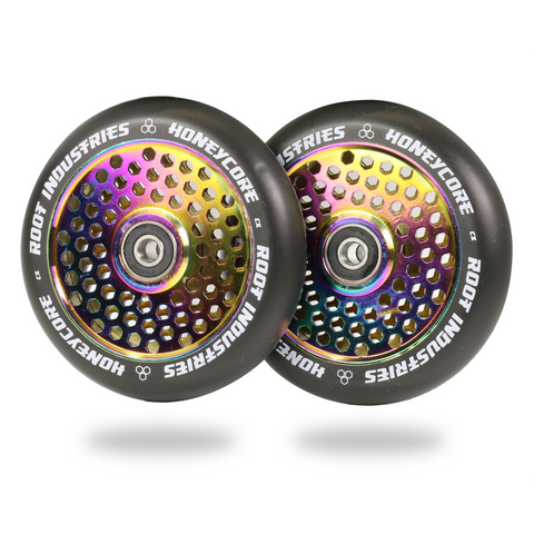 Root Industries Honeycore Wheels 110mm | Black / Neochrome