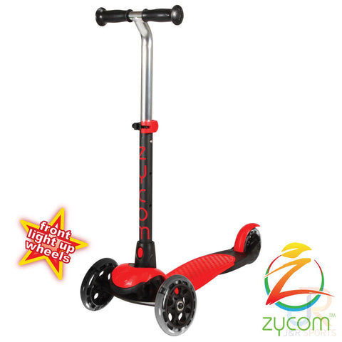 Zycom zing micro scooter with light up wheels - Red / Black