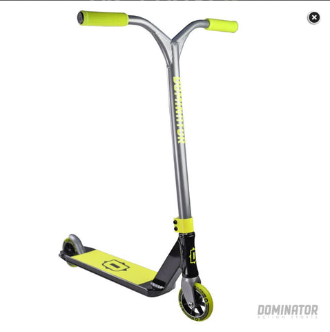 Dominator airborne complete stunt scooter black / neon yellow