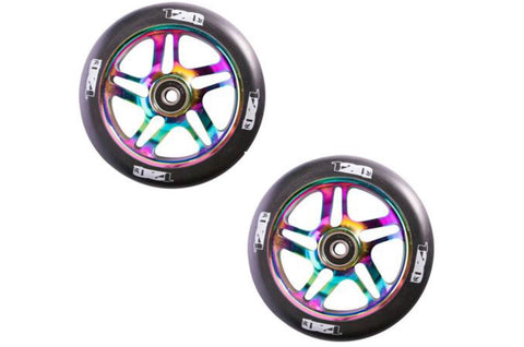 Blunt Envy 120mm Neochrome / Oil Slick Metal Core Wheels