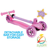 Zycom zing micro scooter with light up wheels - Pink / Purple