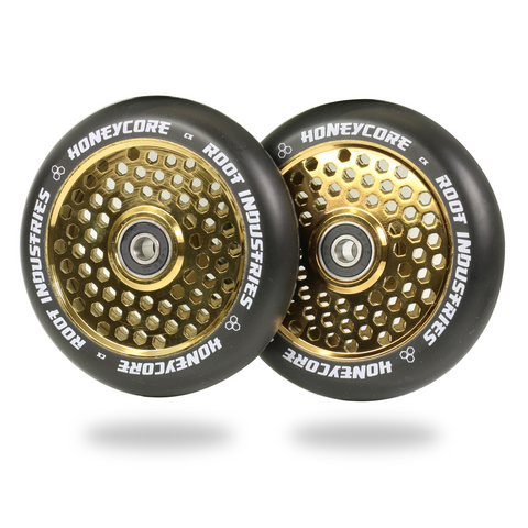 Root Industries Honeycore Wheels 110mm | Black / Gold