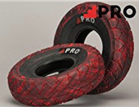 Rocker Mini Bmx Pro Street tyres - Red black Marble - X 2