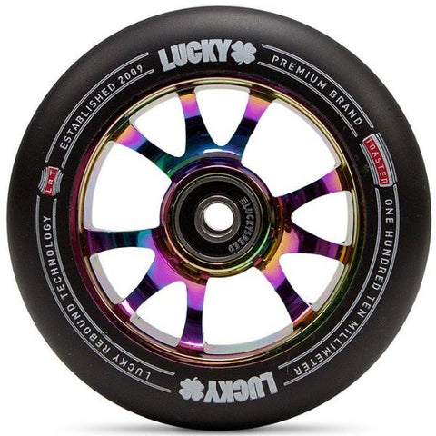 Lucky Toaster 110MM Scooter Wheels - Neochrome/Black