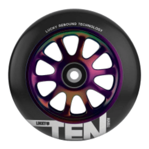 Lucky Tens 110mm Scooter Wheels - Neochrome/Black