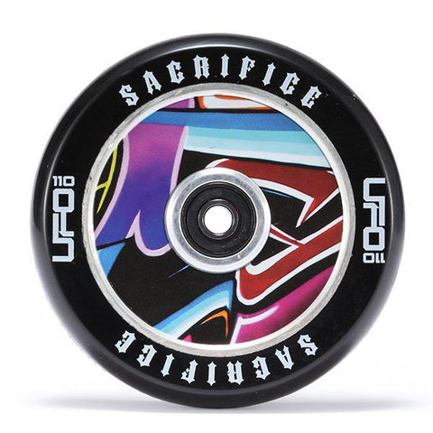 Sacrifice UFO Wheel – Black Graffiti 120mm