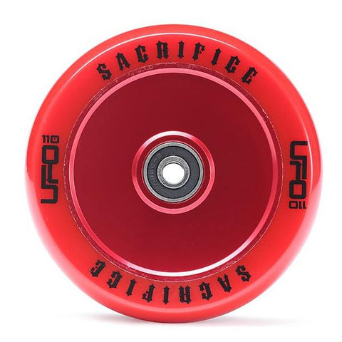 Sacrifice UFO Wheel – Red Red 110mm