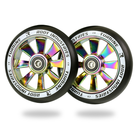 Root Industries Turbine Wheels 110mm | Black / Neochrome