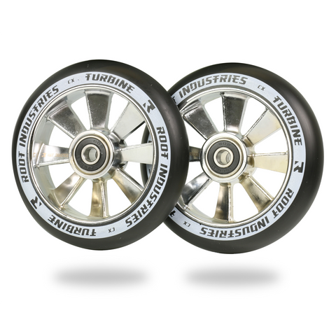 Root Industries Turbine Wheels 110mm | Black / Chrome
