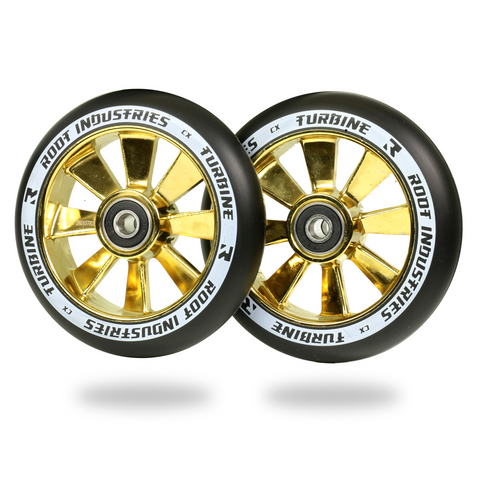 Root Industries Turbine Wheels 110mm | Black / Gold