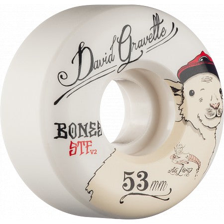 Bones David Gravette Pro model Baby Lamb Street Tech 103a - 53mm  Skateboard Wheels