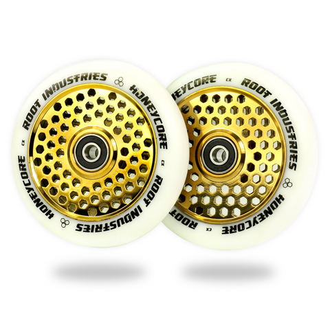 Root Industries Honeycore Wheels 110mm | Black / Gold Rush