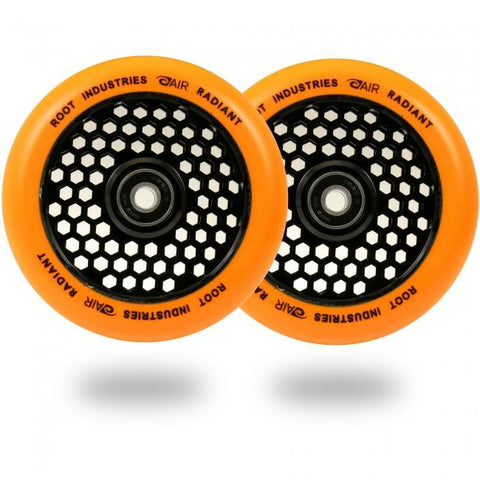 Root Industries Radiant 110MM Honeycore Pro Scooter Wheels - Black/Radiant Orange