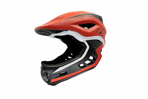 Revvi Super Lightweight Kids Full Face Helmet (48-53cm) - Red