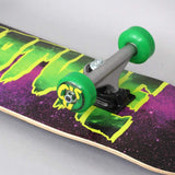 Creature Galaxy Logo Micro Complete Skateboard - Purple/Green