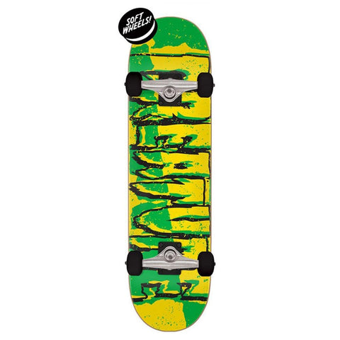 Creature Ripped Logo Micro Complete Skateboard - Green/Yellow