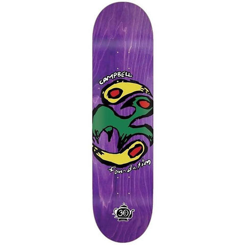 Foundation Skateboards Aidan Yin Yang Bird Skateboard Deck - Purple