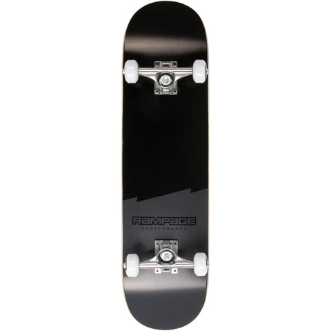Rampage Plain Third Complete Skateboard - Black