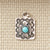 Sterling & Turquoise Dog Tag Pendant