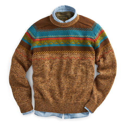 Pueblo Revival Crew Sweater- Tall