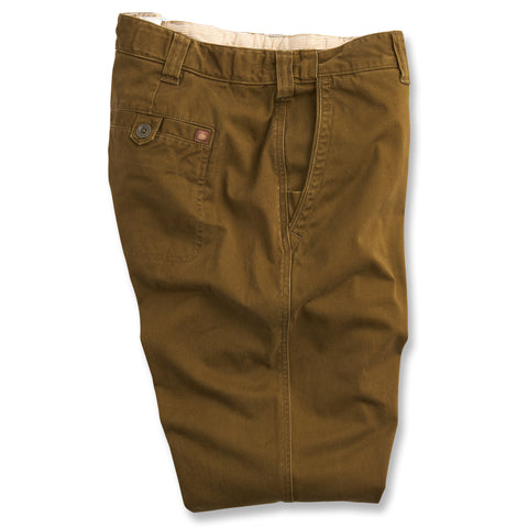 Mission Comfort Flat Front Chino - Deep Olive